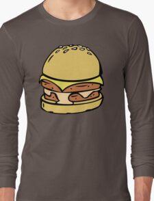 Double Decker Cheese Burger Long Sleeve T-Shirt