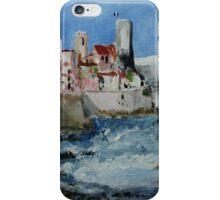 Antibes French Coastal Seascape Acrylic Painting iPhone Case/Skin