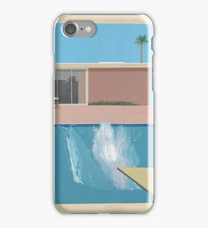 David Hockey - A Bigger Splash iPhone Case/Skin