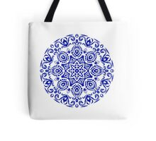 Blue round ornament Tote Bag