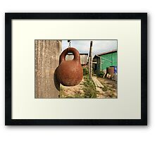 old kettlebell Framed Print