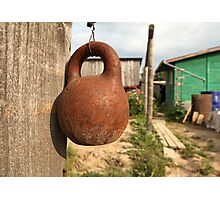 old kettlebell Photographic Print