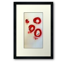 red blood cells ( i ) Framed Print