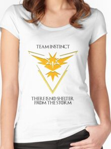 Team Instinct Design - Pokemon GO Women's Fitted Scoop T-Shirt