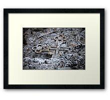 Burned cross ash smoke  Framed Print