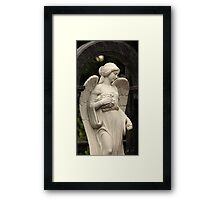 mournful angel  Framed Print