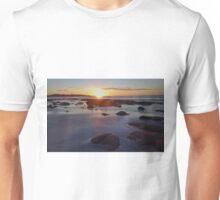 Sunrise on the calm sea Unisex T-Shirt