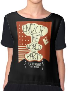 End of the World Party Chiffon Top