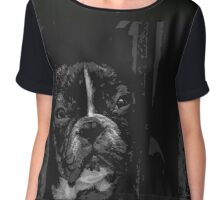 French Bulldog Puppy Chiffon Top
