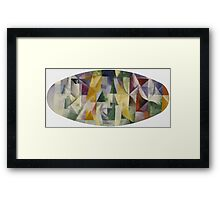 Robert Delaunay - Windows Open Simultaneously . Abstract painting: abstraction, geometric, expressionism, composition, lines, forms, creative fusion, music, kaleidoscope, illusion, fantasy future Framed Print