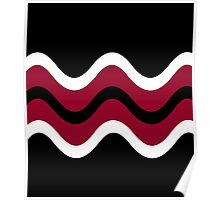 Decorative waves Poster