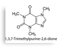 1,3,7-Trimethylpurine-2,6-dione (Caffeine) Canvas Print