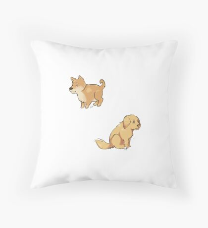 Pups Throw Pillow