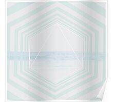 Ocean Stripes Poster