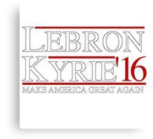 Lebron & Kyrie Canvas Print