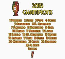Portugal Euro 2016 Champions One Piece - Short Sleeve