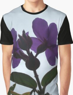 Purple Flowers in the Sky Graphic T-Shirt