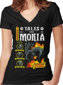 Tales From Moria Women's Fitted V-Neck T-Shirt