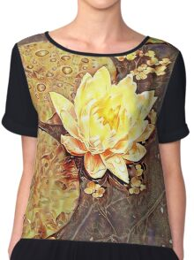 waterlily in autumn colours Chiffon Top