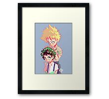 Little Heroes Framed Print