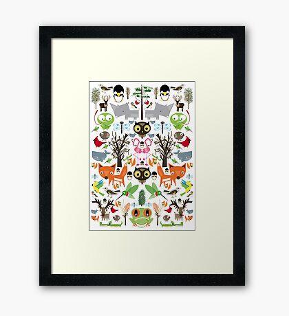 Mixed animal fun Framed Print
