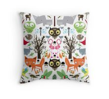 Mixed animal fun Throw Pillow