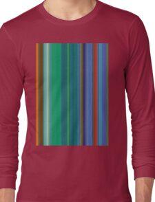 des lignes parallèles de couleur # 2 Long Sleeve T-Shirt