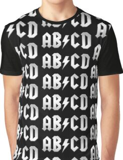 AB/CD (white on black) Graphic T-Shirt