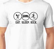 Eat Sleep Kick tshirt for soccer fans Unisex T-Shirt