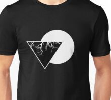 Geometric Triangula II Black Unisex T-Shirt