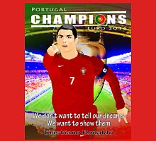 CHAMPIONS, PORTUGAL, EURO 2016, VECTOR Unisex T-Shirt