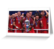 Portugal Win Euro 2016 Greeting Card