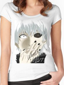 Kaneki Ken Women's Fitted Scoop T-Shirt