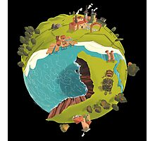 Planet Town Photographic Print
