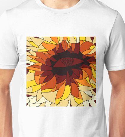 Heart gaze mosaic design Unisex T-Shirt