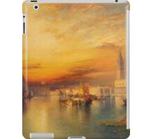 Thomas Moran - Grand Canal, Venice 1898. Mountains landscape: mountains, rocks, rocky nature, sky and clouds, trees, peak, forest, Canyon, hill, travel, hillside iPad Case/Skin