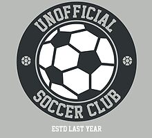 Unofficial Soccer Club t-shirt for soccer fans by tshirtbaba