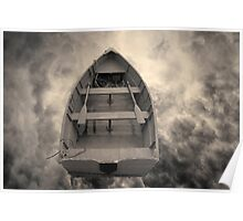 Boat and Clouds Toned Poster