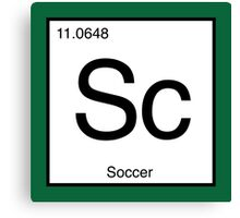 Sc for Soccer Element tshirt for Soccer fans Canvas Print