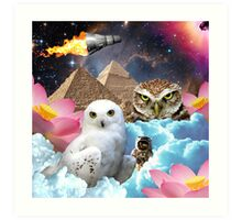 I Dream of Space Owls Art Print