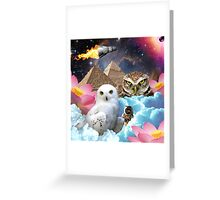I Dream of Space Owls Greeting Card