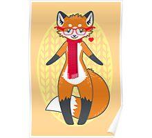 Nerdy Knitwear FOX Poster