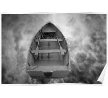 Boat and Clouds Poster