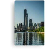 Willis Tower with reflections Canvas Print