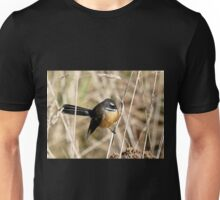 Posing In The Grasses - Fantail - NZ Unisex T-Shirt