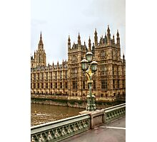 House of Parliament over the Thames Photographic Print