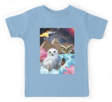 I Dream of Space Owls Kids Tee
