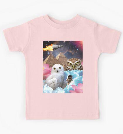 I Dream of Space Owls Kids Tee