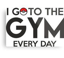 Pokemon - Go to the GYM Metal Print