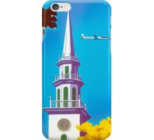 """""""UNITED AIRLINES"""" Fly to New England Print iPhone Case/Skin"""